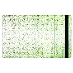 Green Square Background Color Mosaic Apple Ipad Pro 12 9   Flip Case by Celenk
