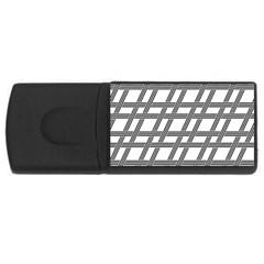 Grid Pattern Seamless Monochrome Rectangular Usb Flash Drive