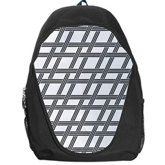 Grid Pattern Seamless Monochrome Backpack Bag by Celenk