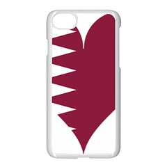 Heart Love Flag Qatar Apple Iphone 7 Seamless Case (white) by Celenk