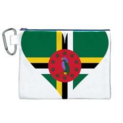 Heart Love Flag Antilles Island Canvas Cosmetic Bag (xl) by Celenk