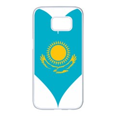 Heart Love Flag Sun Sky Blue Samsung Galaxy S7 Edge White Seamless Case