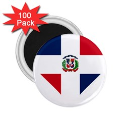 Heart Love Dominican Republic 2 25  Magnets (100 Pack)  by Celenk
