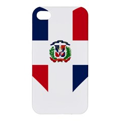 Heart Love Dominican Republic Apple Iphone 4/4s Hardshell Case by Celenk
