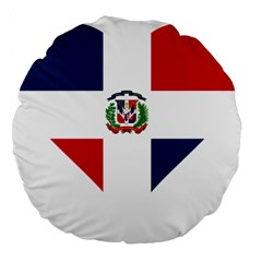 Heart Love Dominican Republic Large 18  Premium Flano Round Cushions by Celenk