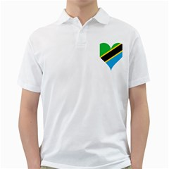 Heart Love Tanzania East Africa Golf Shirts