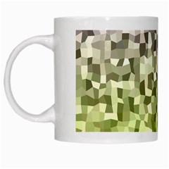 Irregular Rectangle Square Mosaic White Mugs by Celenk