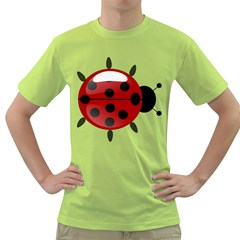 Ladybug Insects Colors Alegre Green T Shirt