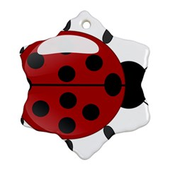 Ladybug Insects Colors Alegre Ornament (snowflake) by Celenk