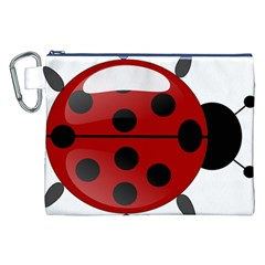 Ladybug Insects Colors Alegre Canvas Cosmetic Bag (xxl) by Celenk