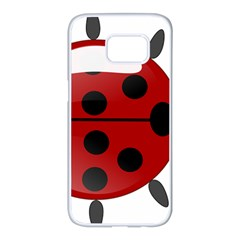 Ladybug Insects Colors Alegre Samsung Galaxy S7 Edge White Seamless Case by Celenk
