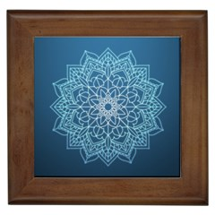 Mandala Floral Ornament Pattern Framed Tiles by Celenk