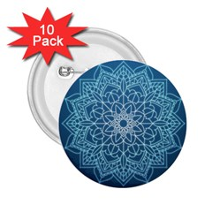 Mandala Floral Ornament Pattern 2 25  Buttons (10 Pack)  by Celenk