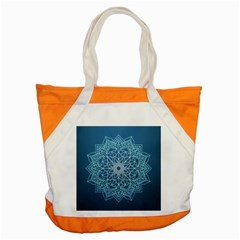 Mandala Floral Ornament Pattern Accent Tote Bag by Celenk