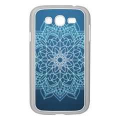 Mandala Floral Ornament Pattern Samsung Galaxy Grand Duos I9082 Case (white) by Celenk