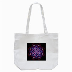 Mandala Circular Pattern Tote Bag (white) by Celenk