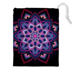Mandala Circular Pattern Drawstring Pouches (xxl) by Celenk