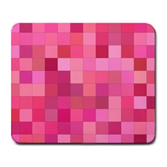 Pink Square Background Color Mosaic Large Mousepads by Celenk