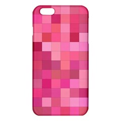 Pink Square Background Color Mosaic Iphone 6 Plus/6s Plus Tpu Case by Celenk