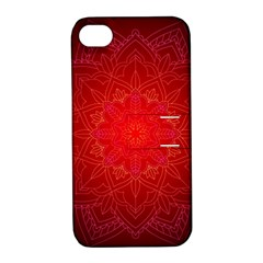 Mandala Ornament Floral Pattern Apple Iphone 4/4s Hardshell Case With Stand by Celenk