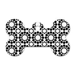 Pattern Seamless Monochrome Dog Tag Bone (two Sides) by Celenk
