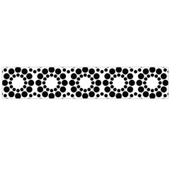 Pattern Seamless Monochrome Large Flano Scarf  by Celenk