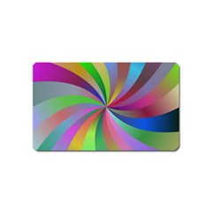 Spiral Background Design Swirl Magnet (name Card) by Celenk