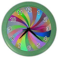 Spiral Background Design Swirl Color Wall Clocks by Celenk