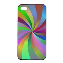 Spiral Background Design Swirl Apple Iphone 4/4s Seamless Case (black) by Celenk