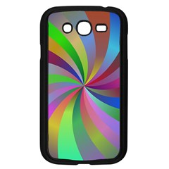 Spiral Background Design Swirl Samsung Galaxy Grand Duos I9082 Case (black) by Celenk