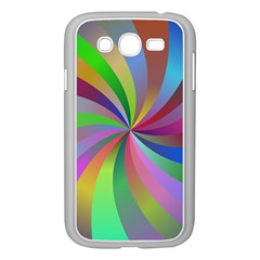 Spiral Background Design Swirl Samsung Galaxy Grand Duos I9082 Case (white) by Celenk