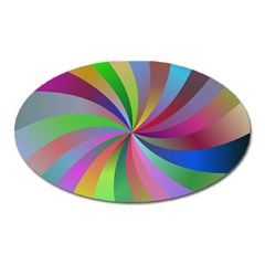 Spiral Background Design Swirl Oval Magnet by Celenk