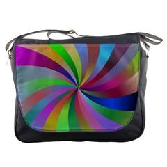 Spiral Background Design Swirl Messenger Bags by Celenk