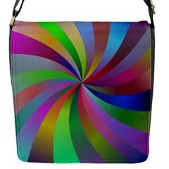 Spiral Background Design Swirl Flap Messenger Bag (s) by Celenk