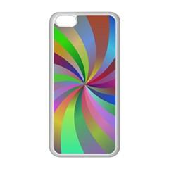 Spiral Background Design Swirl Apple Iphone 5c Seamless Case (white) by Celenk