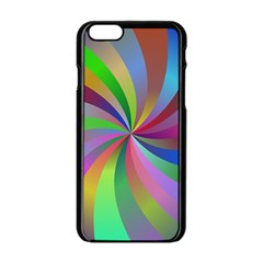 Spiral Background Design Swirl Apple Iphone 6/6s Black Enamel Case by Celenk