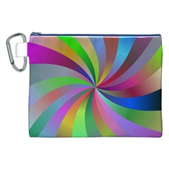 Spiral Background Design Swirl Canvas Cosmetic Bag (xxl) by Celenk