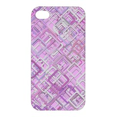 Pink Modern Background Square Apple Iphone 4/4s Premium Hardshell Case by Celenk