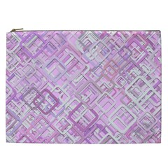 Pink Modern Background Square Cosmetic Bag (xxl)  by Celenk