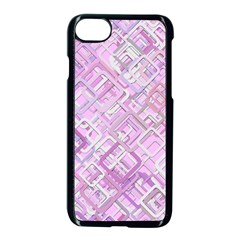 Pink Modern Background Square Apple Iphone 8 Seamless Case (black) by Celenk