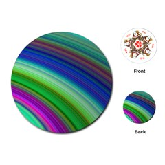Motion Fractal Background Playing Cards (round)  by Celenk