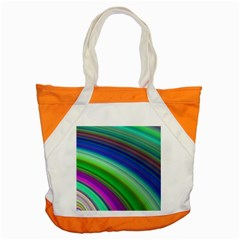Motion Fractal Background Accent Tote Bag by Celenk