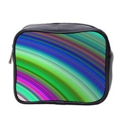 Motion Fractal Background Mini Toiletries Bag 2 Side by Celenk