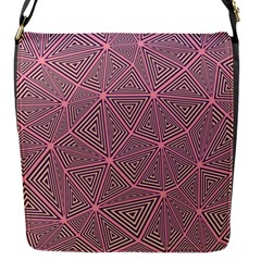 Purple Triangle Background Abstract Flap Messenger Bag (s) by Celenk