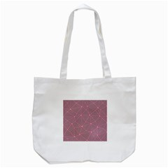 Purple Triangle Background Abstract Tote Bag (white) by Celenk