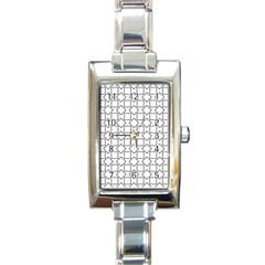 Square Line Stripe Pattern Rectangle Italian Charm Watch