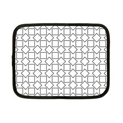 Square Line Stripe Pattern Netbook Case (small)  by Celenk