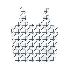 Square Line Stripe Pattern Full Print Recycle Bags (m)  by Celenk