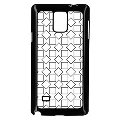 Square Line Stripe Pattern Samsung Galaxy Note 4 Case (black) by Celenk