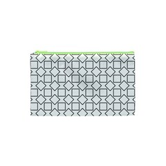 Square Line Stripe Pattern Cosmetic Bag (xs) by Celenk